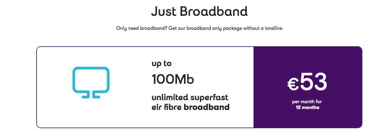Eir Just Broadband