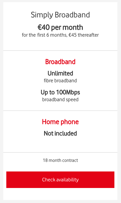 Vodafone Simply Broadband